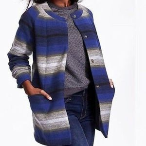 Old Navy \Coat Collarless Jacket Striped Size XS